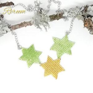 zvezda, ogrlica, miyuki, stars, christmas, nakit, love